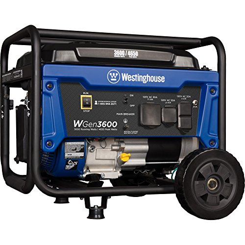 the Westinghouse WGen3600 portable generator