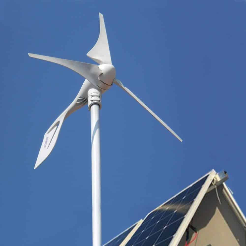 efficient home: home wind generator and solar panels