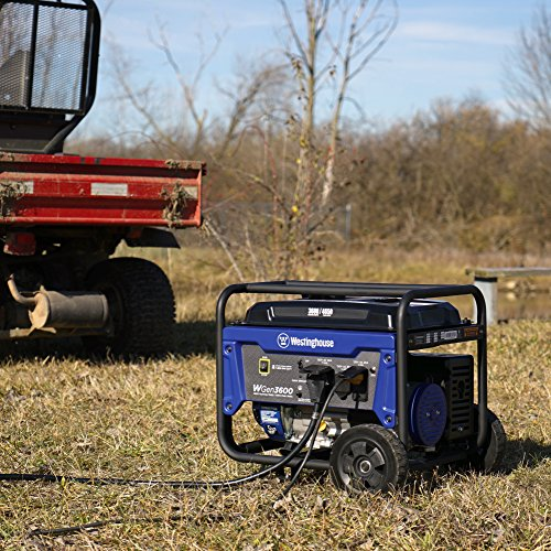 the portable Westinghouse WGen3600 generator in the great outdoors