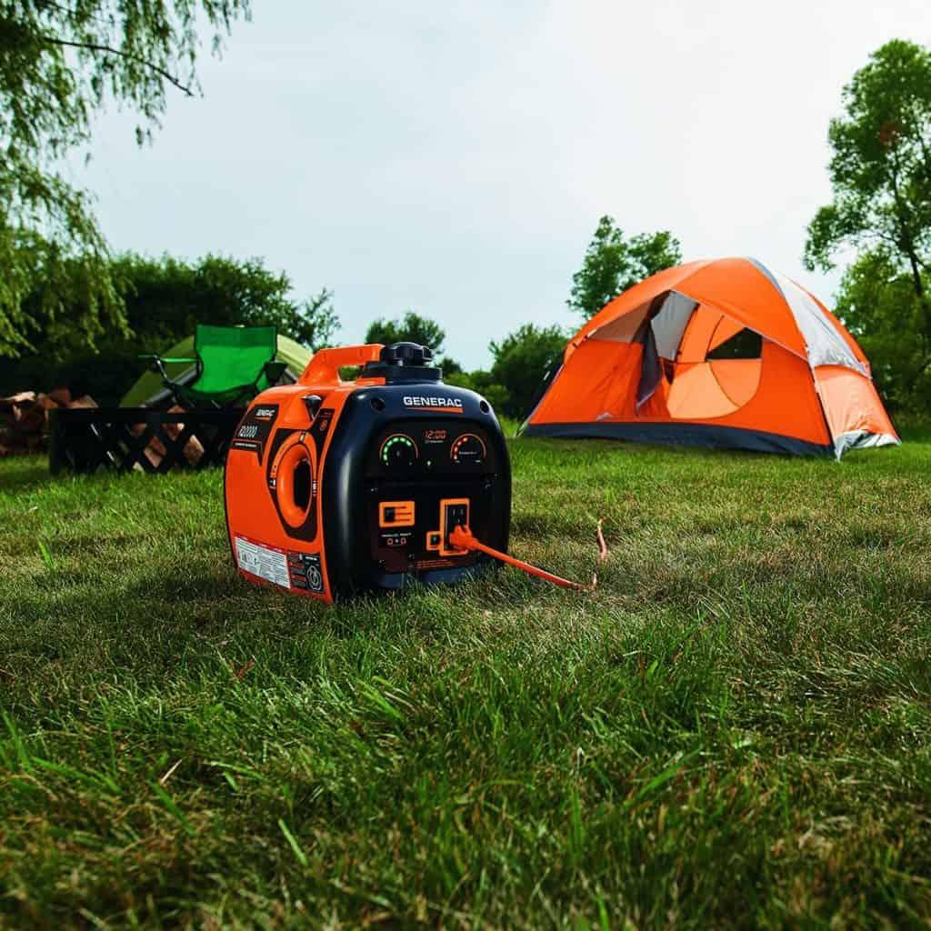 a generac generator on a camp site