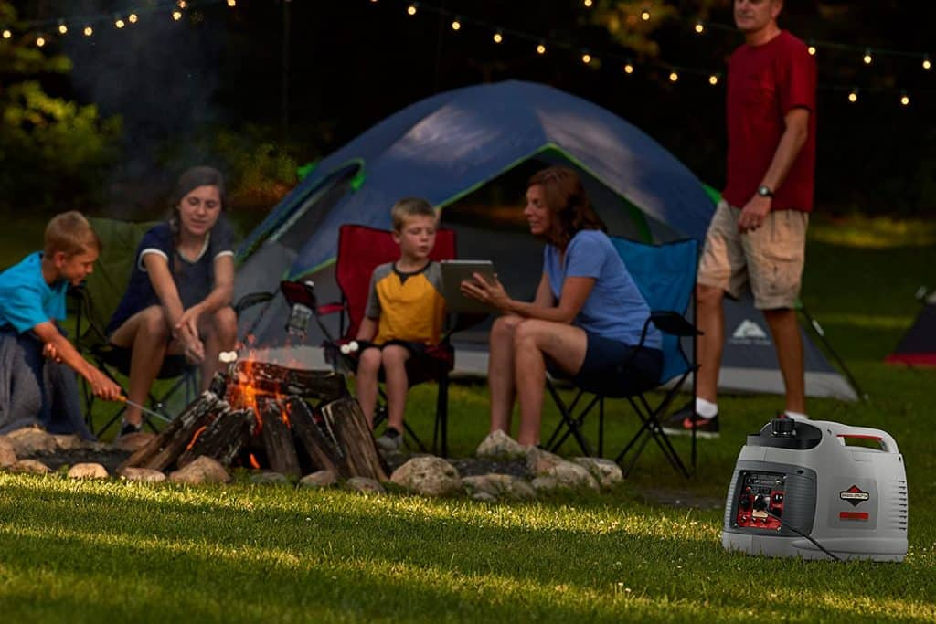 an inverter generator is great for camping with the family