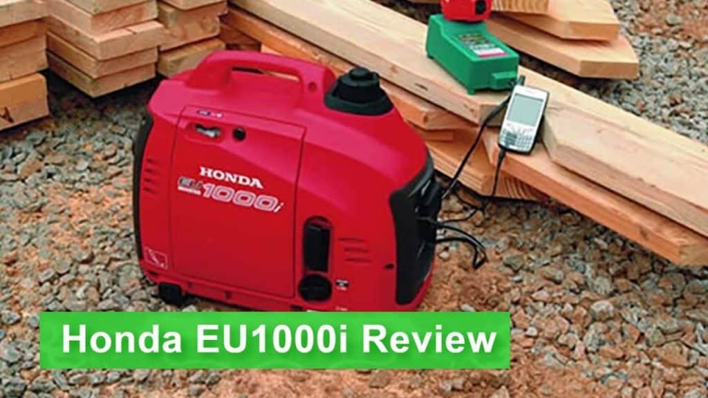 the Honda EU1000i portable generator